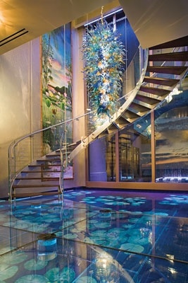 25 rooms with stunning aquariums decoholic for Suelo waterfront