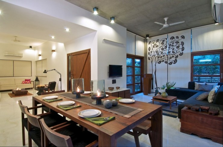green house 3 interiors by Hiren Patel Architects