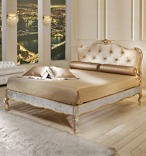 luxury bedroom design french silver and gold luxury bed - Luxurious Bed Designs