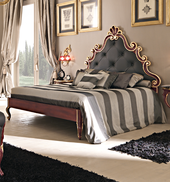Paris Collection leather upholstered bed