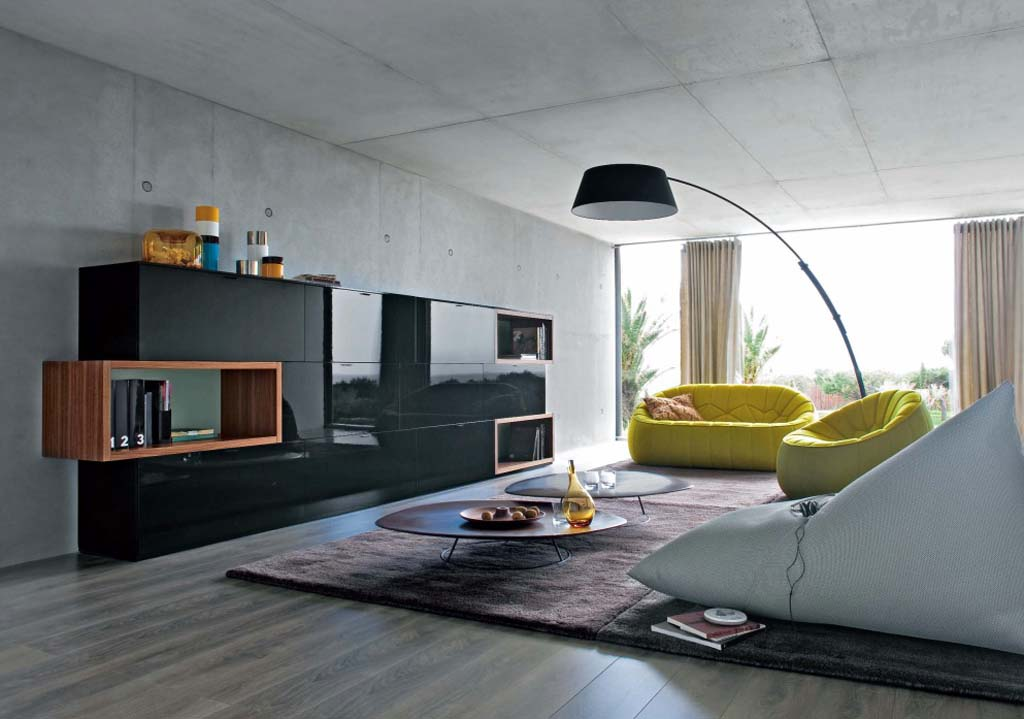 minimalism 34 great living room designs decoholic. Black Bedroom Furniture Sets. Home Design Ideas