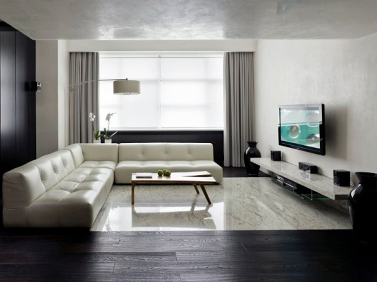 Minimalist living room designed byDecolieu Studio Design.