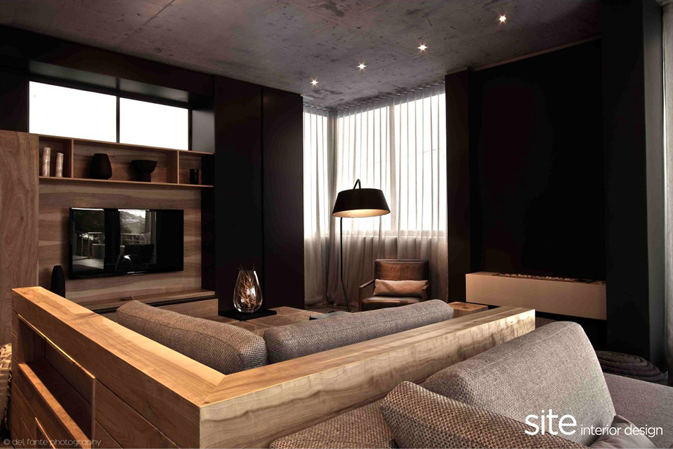 dramatic modern house by site interior design decoholic. Black Bedroom Furniture Sets. Home Design Ideas