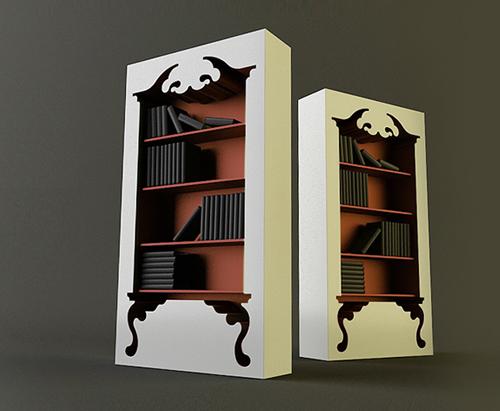 Vintage-Modern Bookshelf by munkii