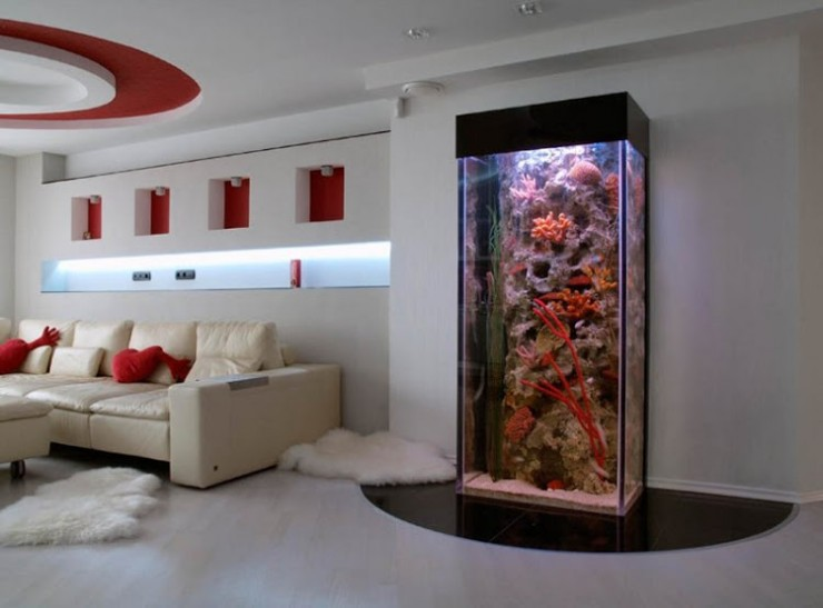 room 14 decorating ideas with aquarium
