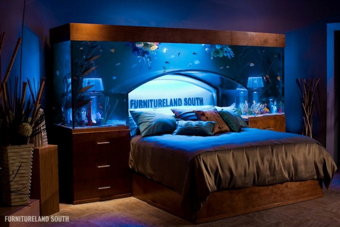 Kitchen Island Fish Tank 25 rooms with stunning aquariums - decoholic