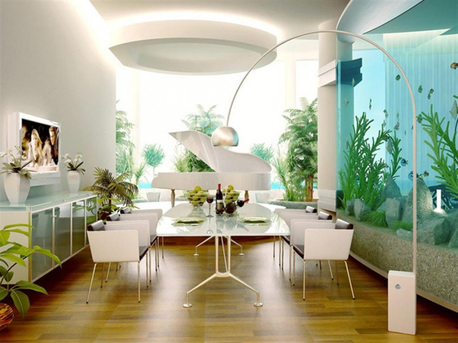 25 rooms with stunning aquariums decoholic - Fish tank dining room table ...