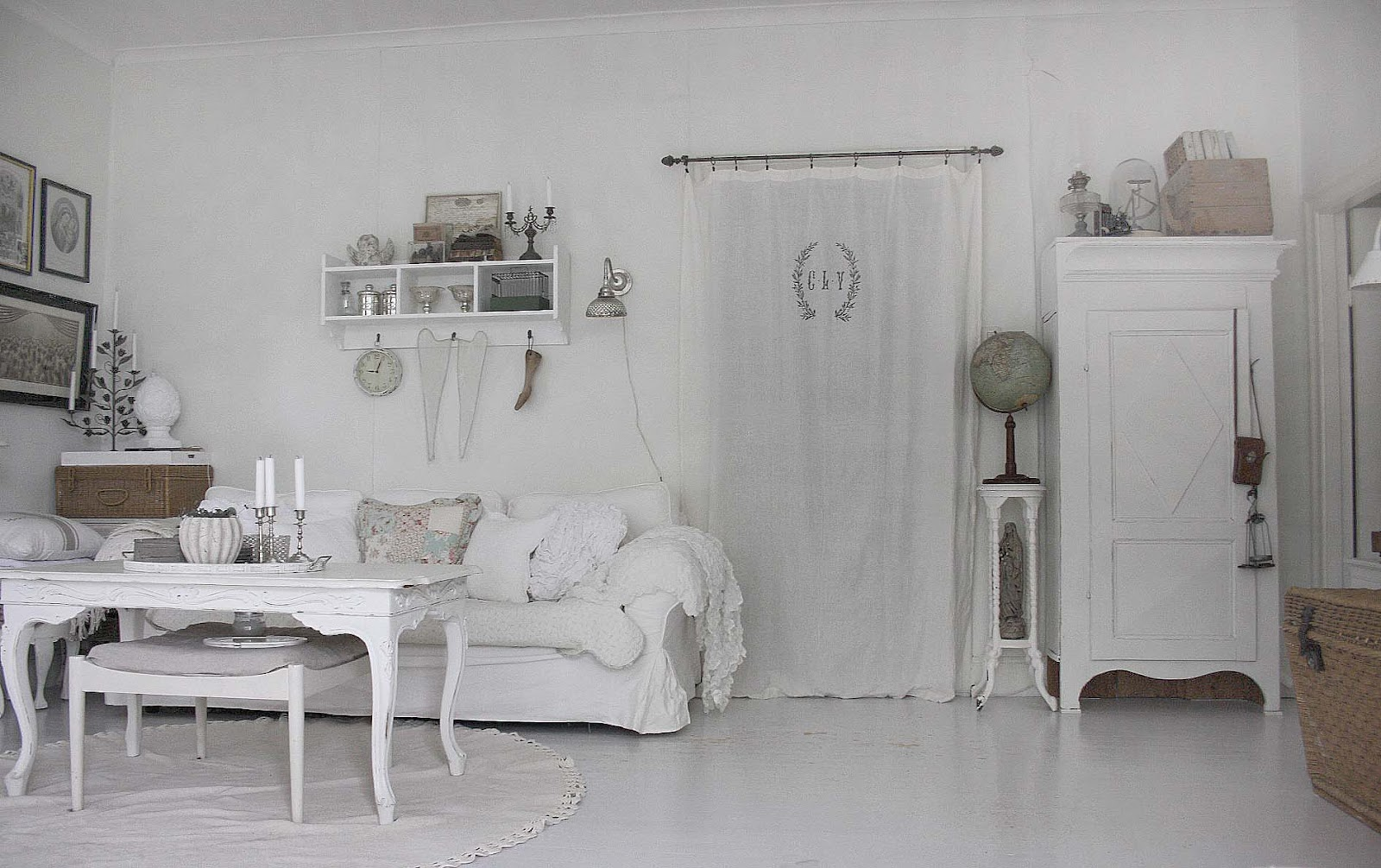 37 dream shabby chic living room designs decoholic - Papier peint shabby chic ...