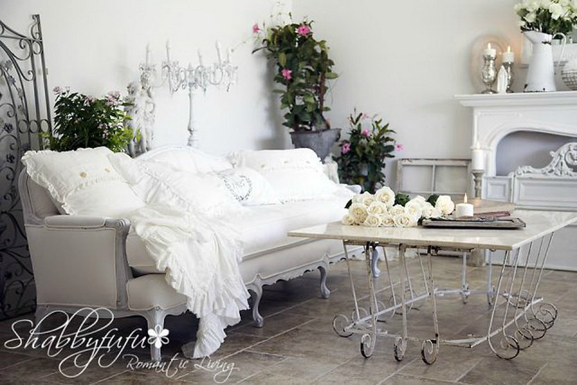 37 dream shabby chic living room designs decoholic for Grey shabby chic living room ideas