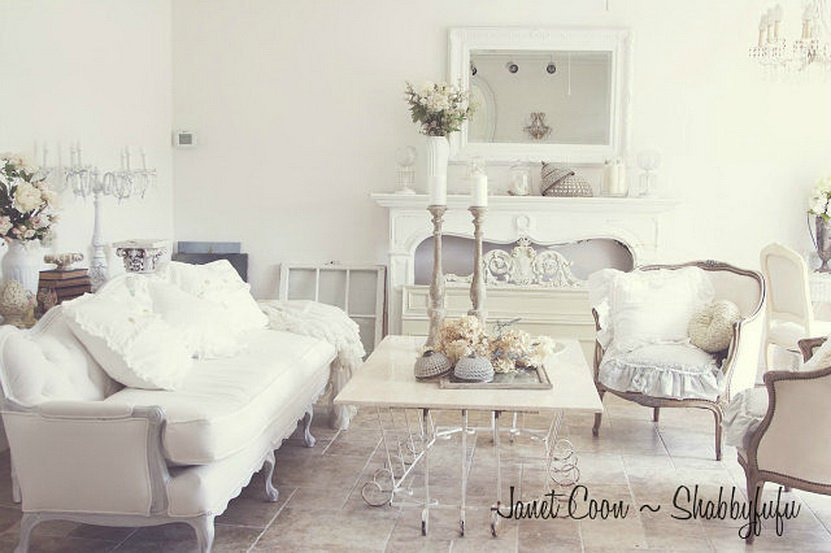 New Shabby Chic Living Room Ideas Creative