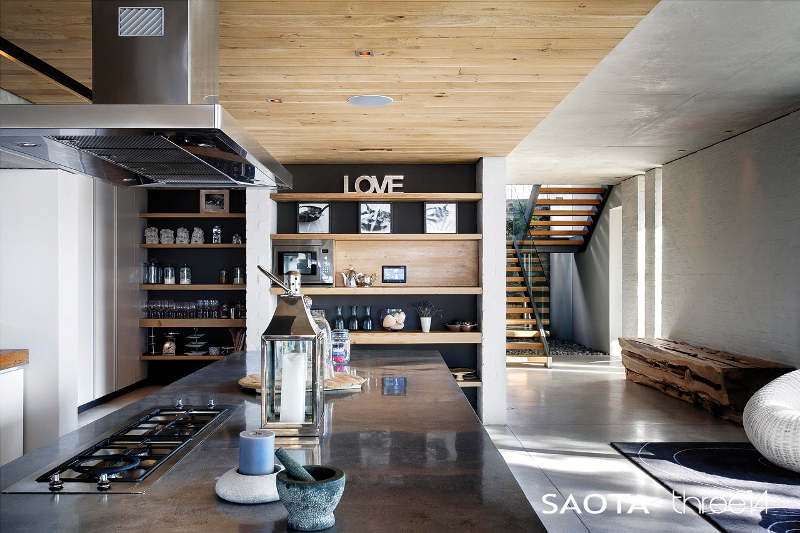 Concrete Interior Design contemporary-chic house with a comfortable and relaxed atmosphere