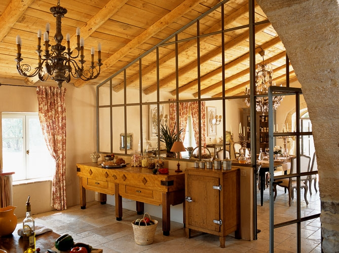 French Country Stone House Interiors 3