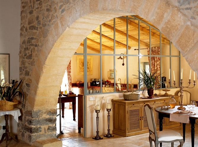 French Country Stone House Interiors 4