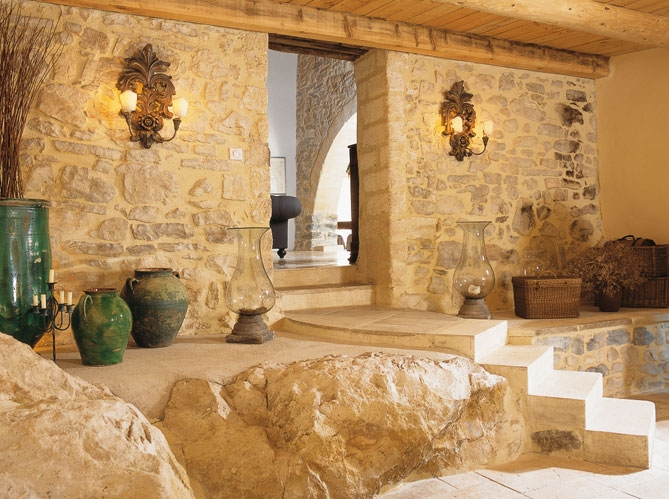 French Country Stone House Interiors 6