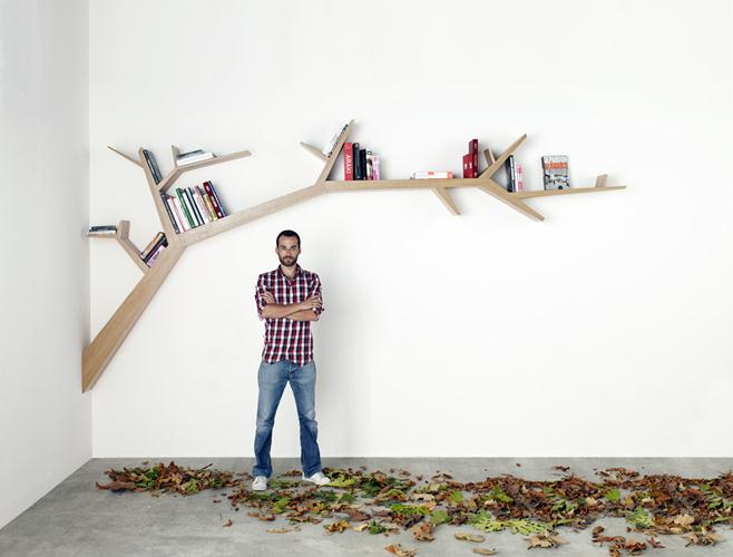 Tree Branch bookcase by Olivier Dollé