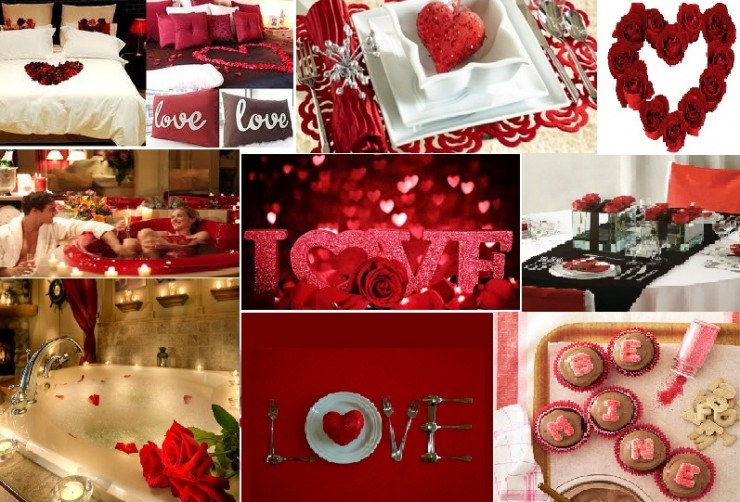 Hot valentine 39 s day decorations decoholic - Valentine day room decoration ...
