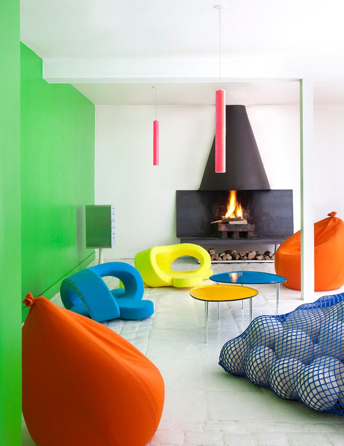 Florence Jaffrain's Colorful House interiors 2