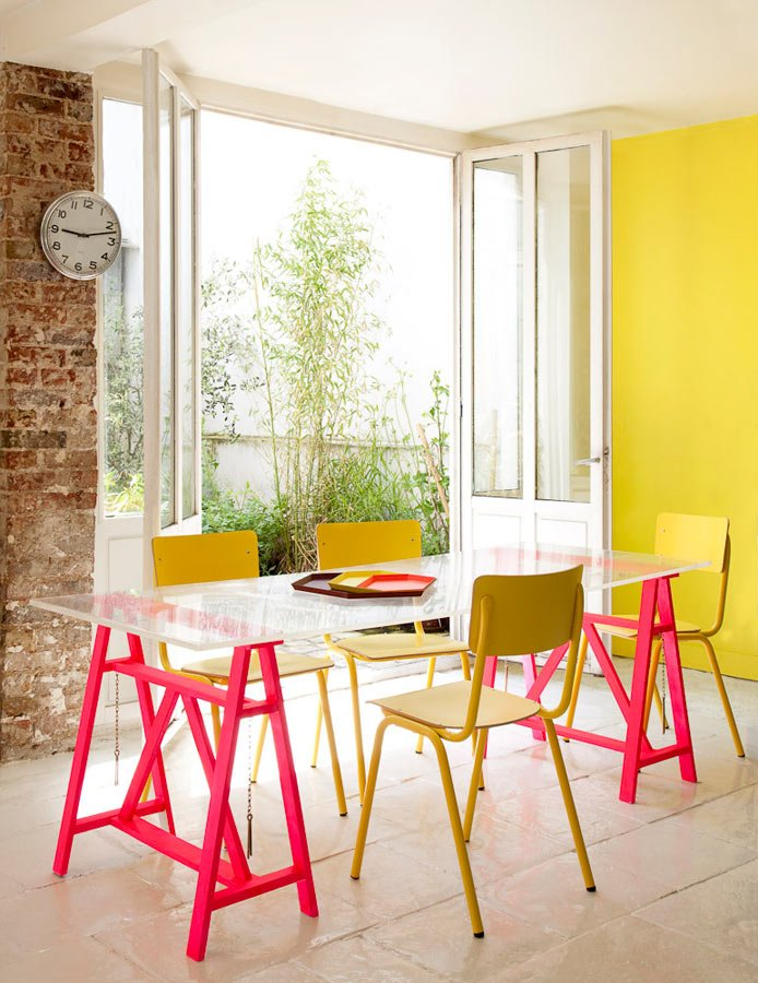 Florence Jaffrain's Colorful House interiors
