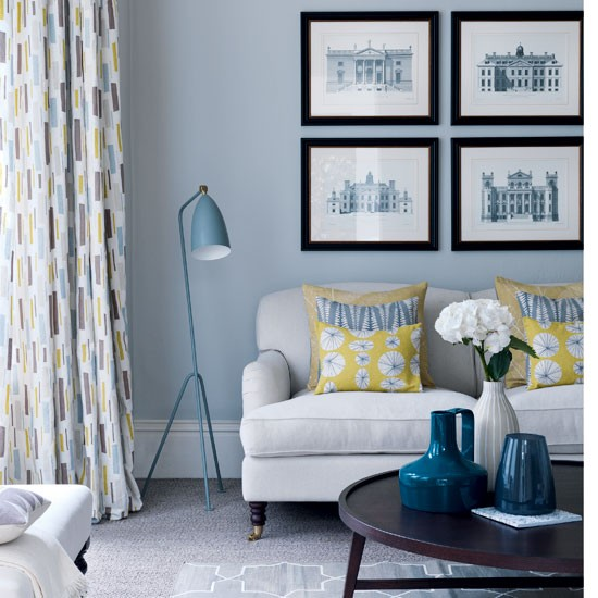 using a palette of sharp yellows and utilitarian greys is reminiscent