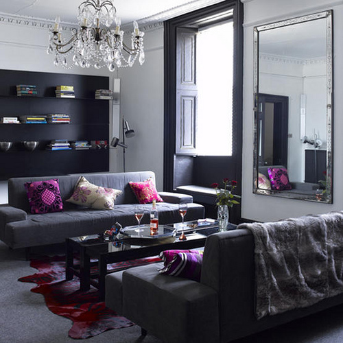 Purple and Gray Living Room 500 x 500