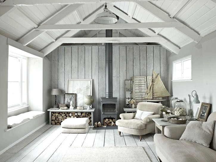 gray wooden living room designs
