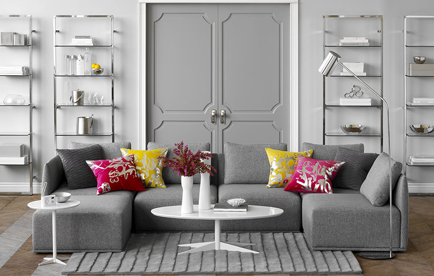 69 fabulous gray living room designs to inspire you for Living room ideas white and grey