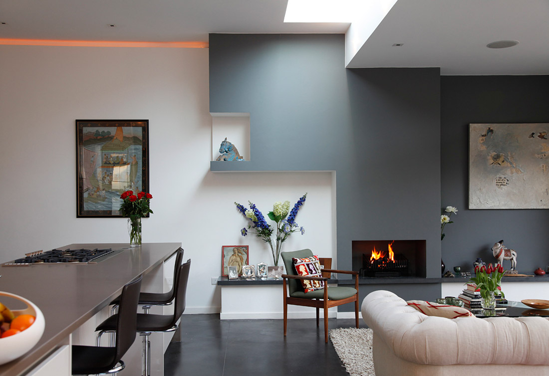 69 fabulous gray living room designs to inspire you - White walls living room ...
