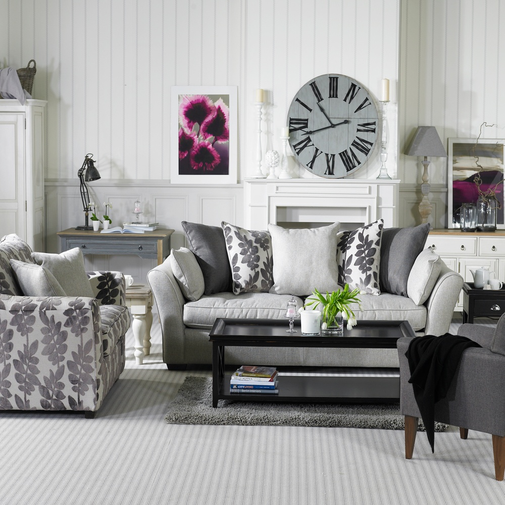 69 fabulous gray living room designs to inspire you - Black and white and grey living room ...