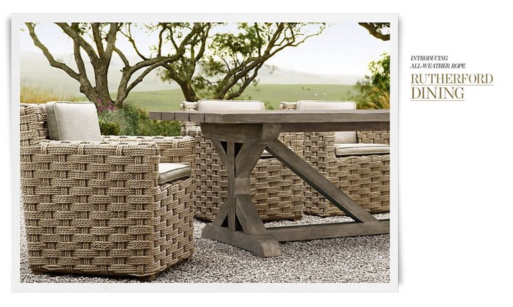 Rh outdoor furniture collection spring 2013 decoholic for Outdoor furniture hwy 7