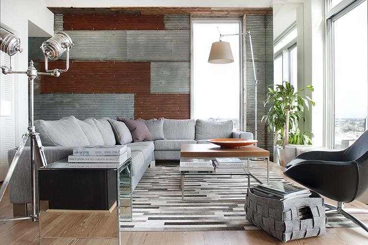 Urban industrial design by groundswell decoholic Contemporary urban living room
