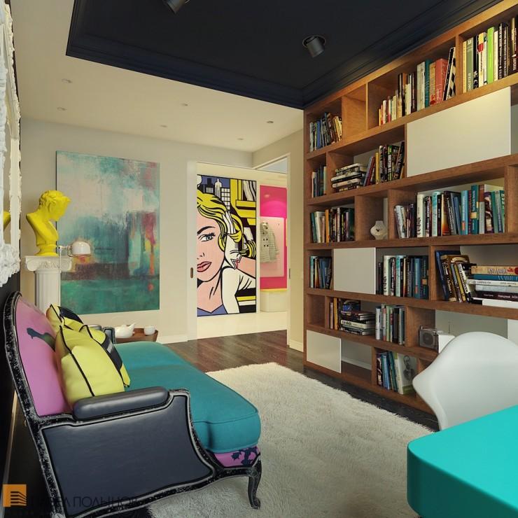 Pop Art Interior Design 9 by Pavel Polinov