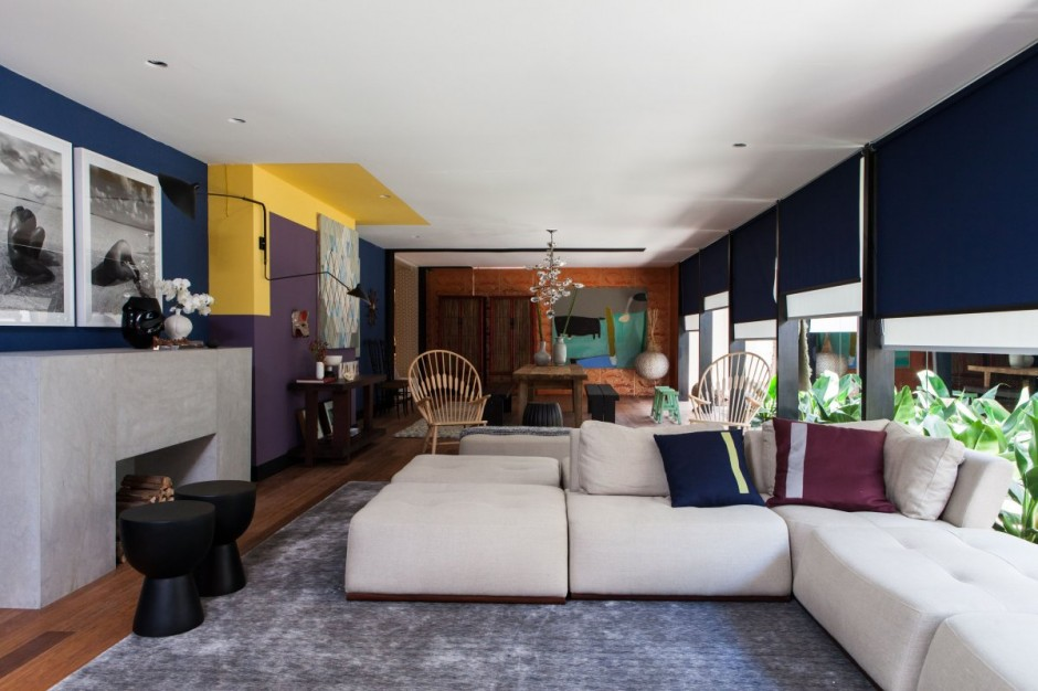 house interiors with bold colors by galeazzo design