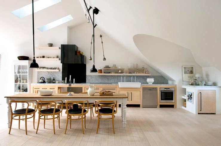 Industrial scandinavian Loft interior