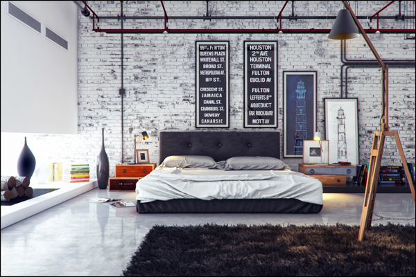 industrial bedroom design 10. 21 Industrial Bedroom Designs   Decoholic