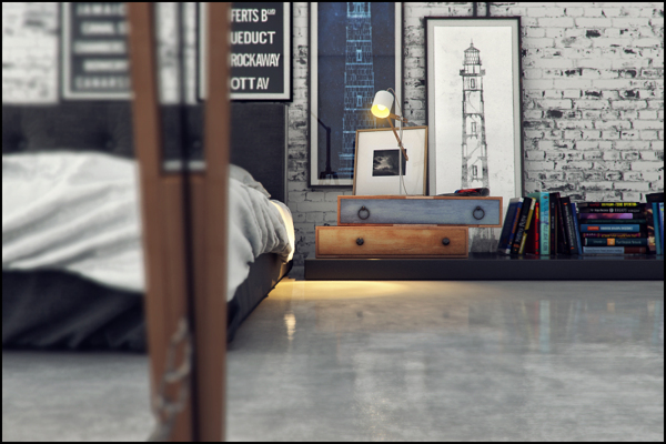 industrial bedroom design 11