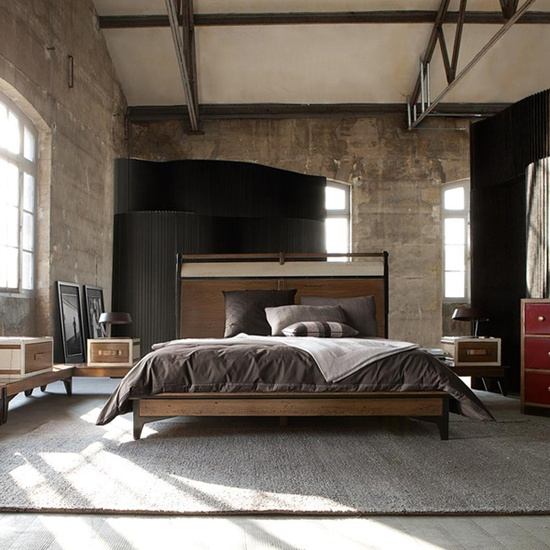 industrial bedroom design 15