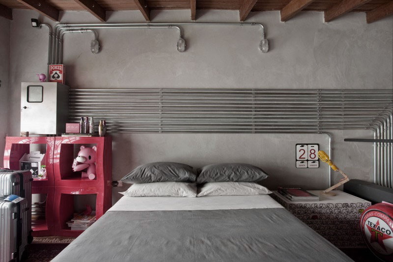 Awesome Industrial Bedroom Design. Industrial Bedroom Design 2