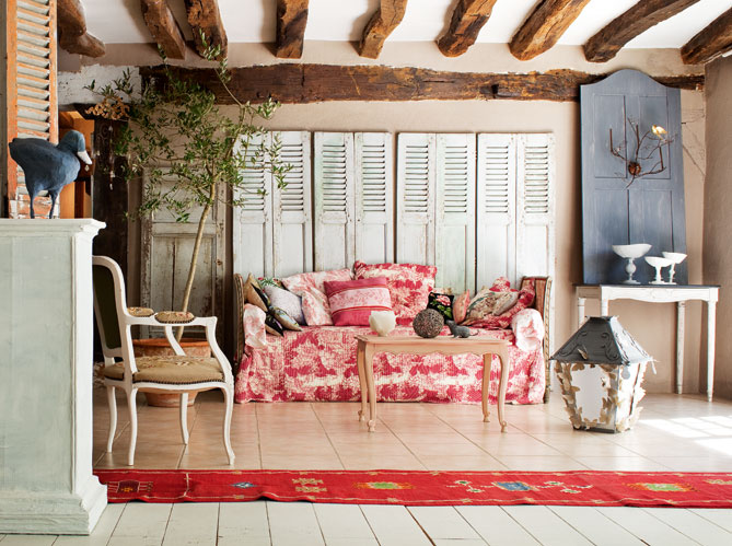 Living Room French Provence Decorating Style