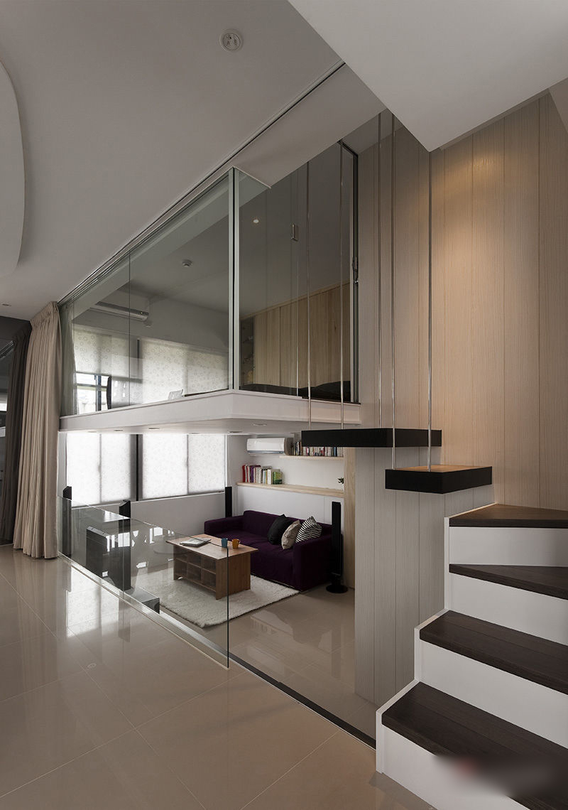 modern black and white apartment 2 interiors