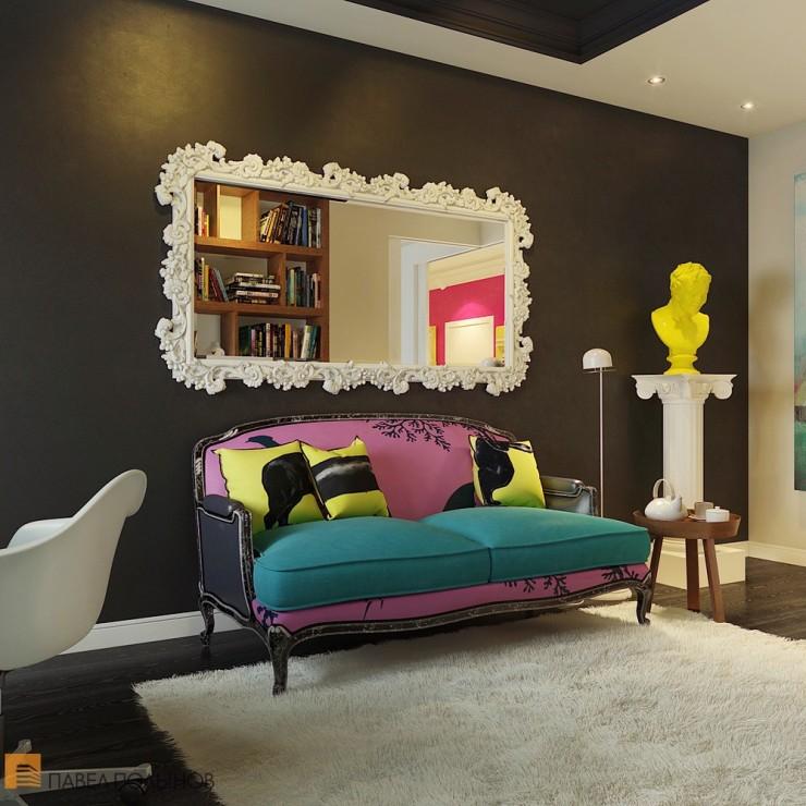 Pop Art Interior Design 7 by Pavel Polinov