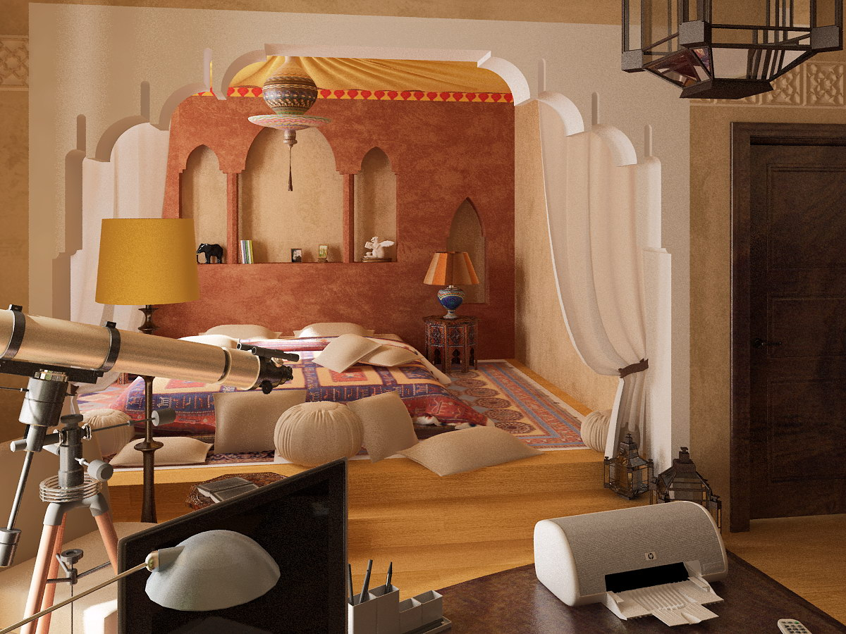 moroccan bedroom 2 decorating ideas - Brown Themed Bedroom Designs
