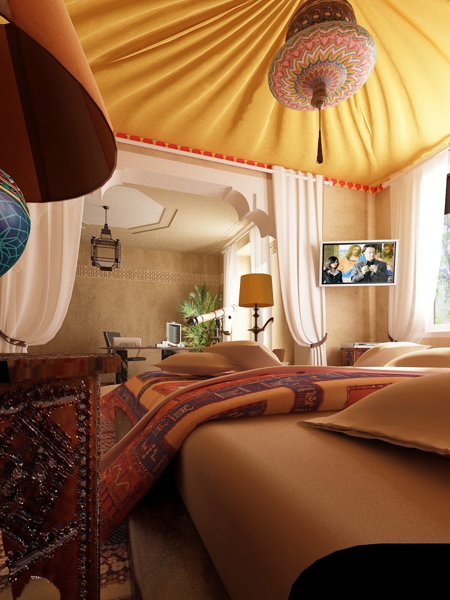 40 moroccan themed bedroom decorating ideas decoholic for Bed styling ideas