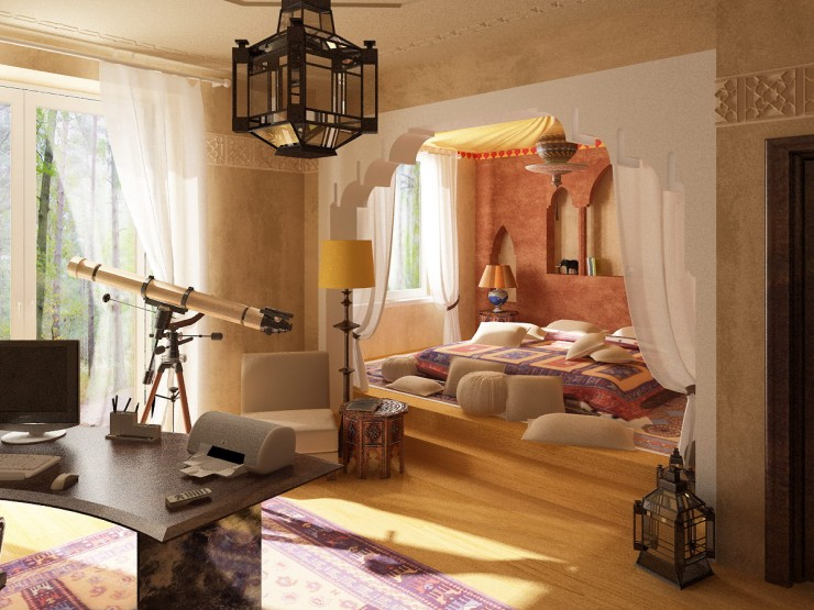 40 moroccan themed bedroom decorating ideas decoholic for Salon zen casablanca