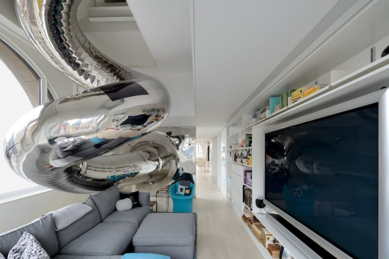 penthouse with slide