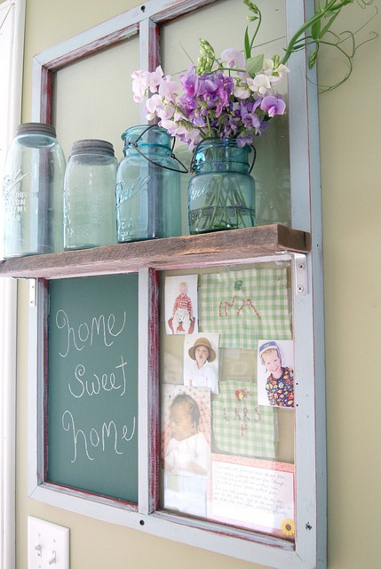 primitive house decor with vases