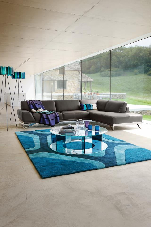 roche bobois 3 contemporary sofa