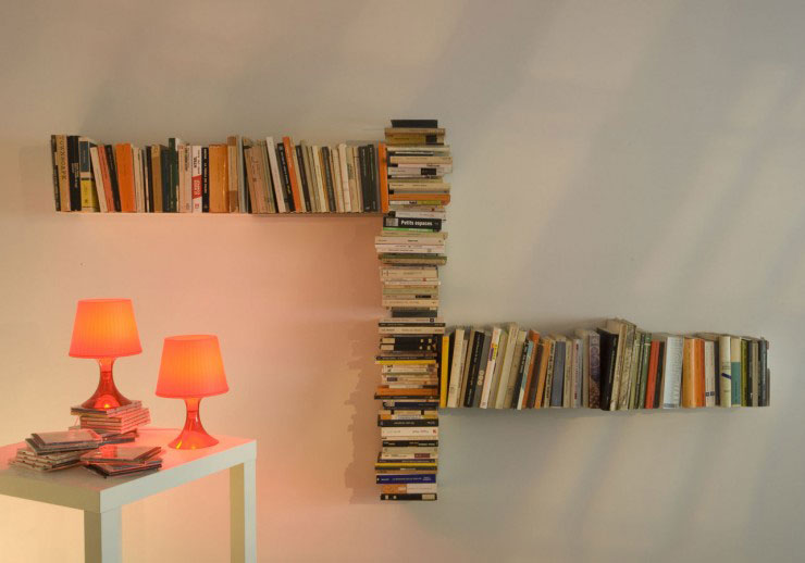 TEEbooks Floating Light Wall Shelf 2