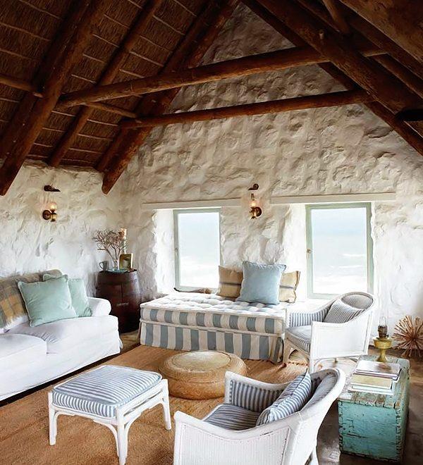 simple Stylish Stone Cottage interiors