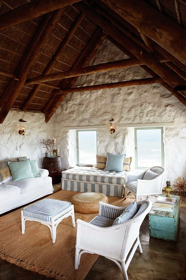 simple but perfectly stylish stone cottage