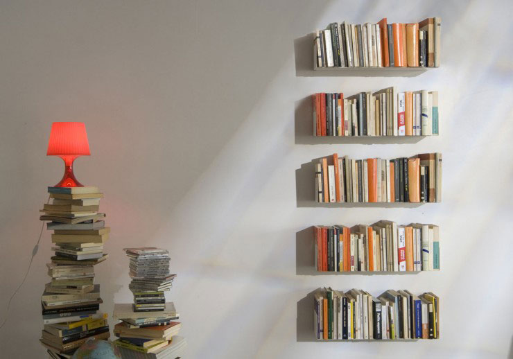 TEEbooks Floating Light Wall Shelf